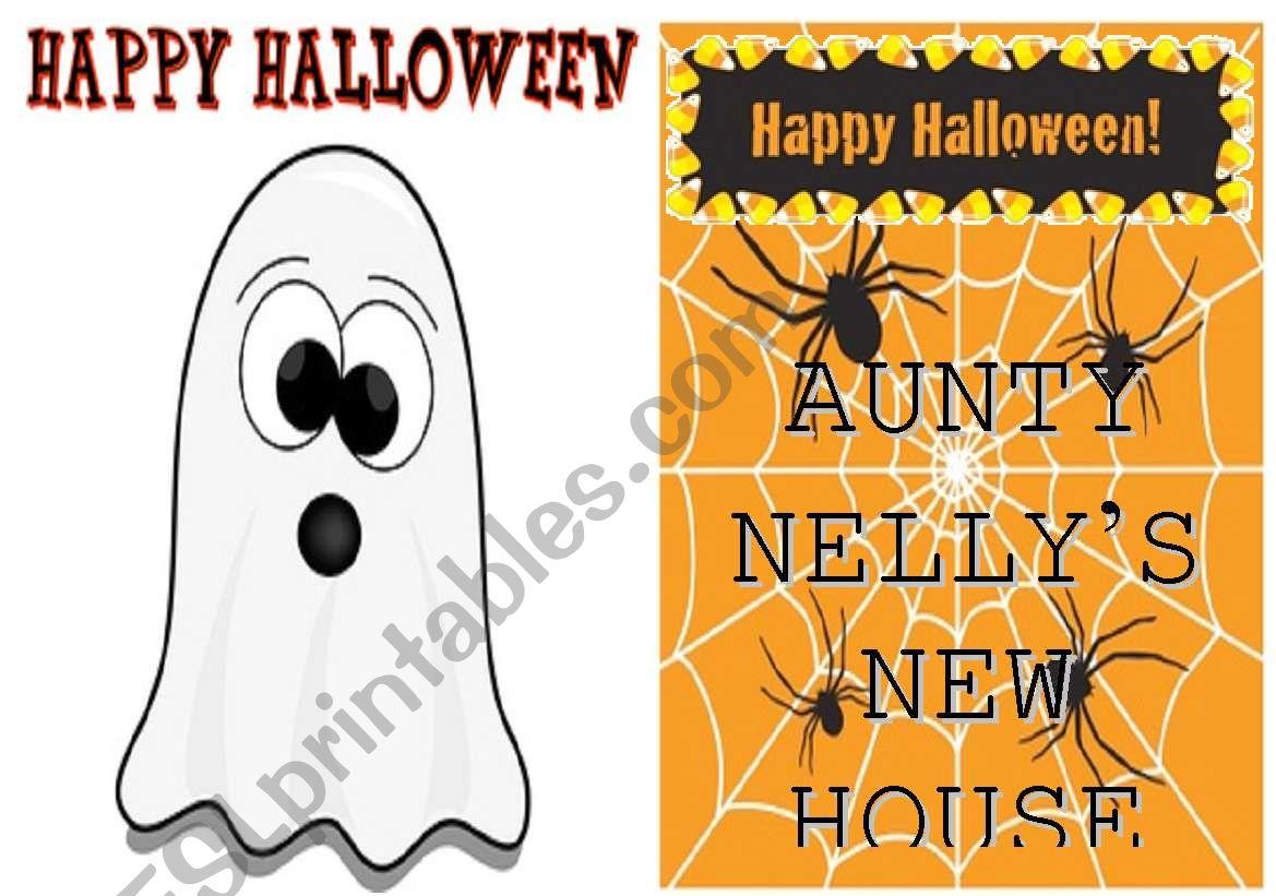 Halloween Story - Minibook worksheet