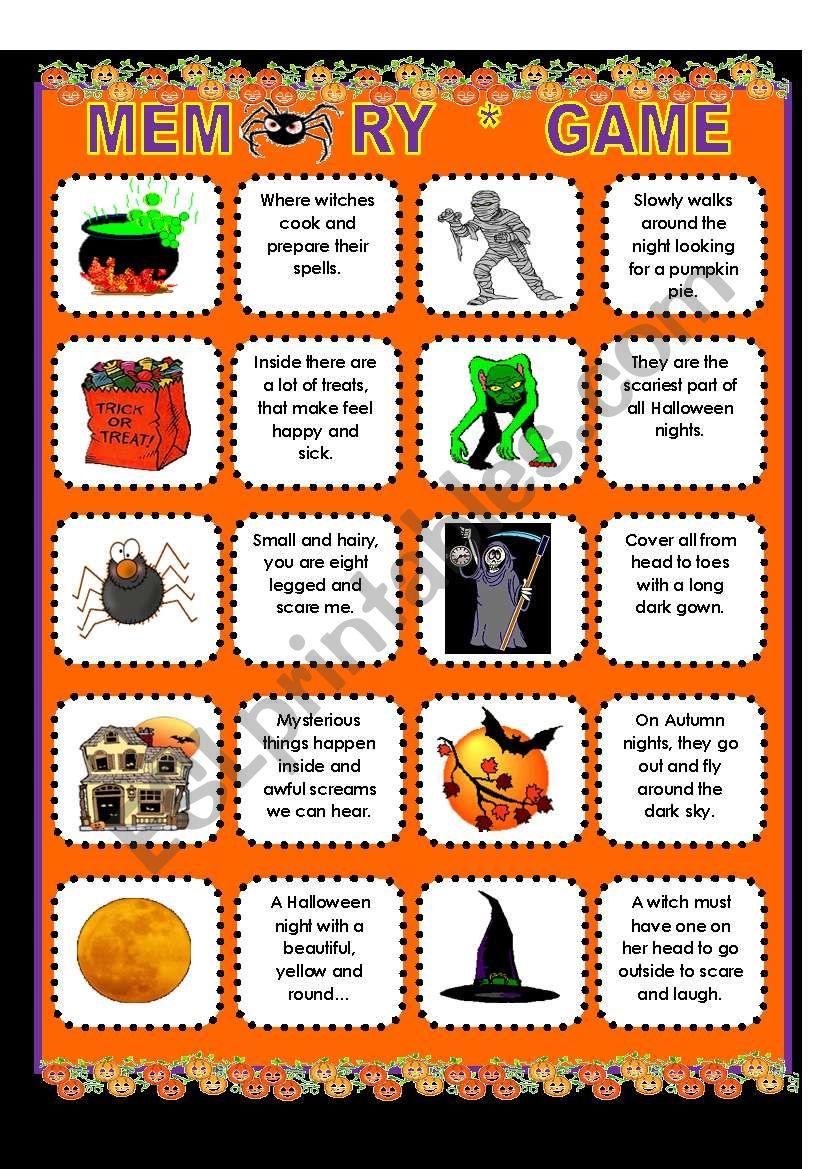Halloween Riddles Esl Worksheet By Supergirls
