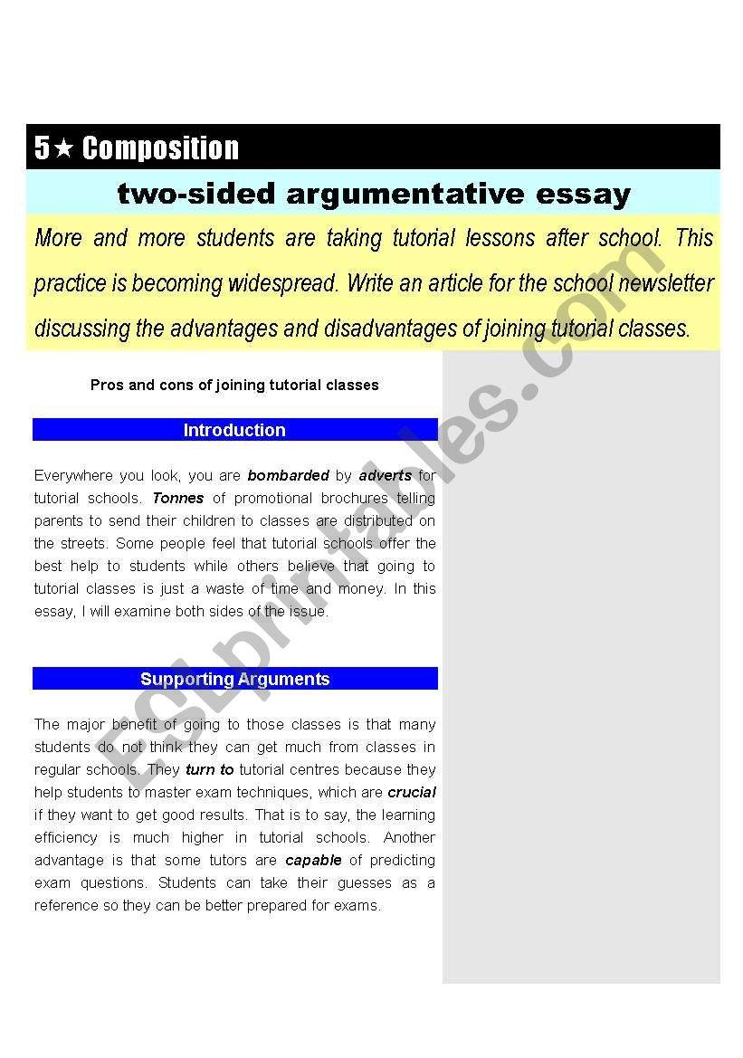 argumentative articles for kids