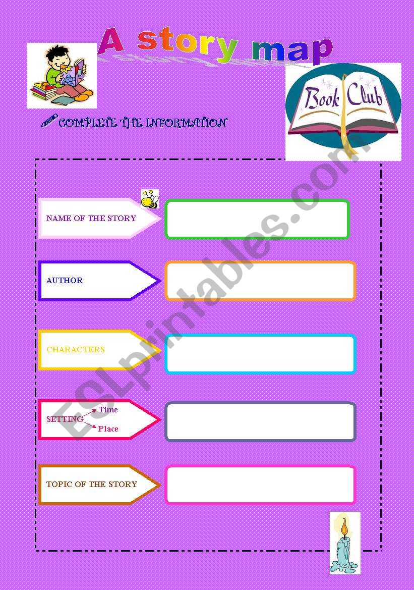 A story Map worksheet