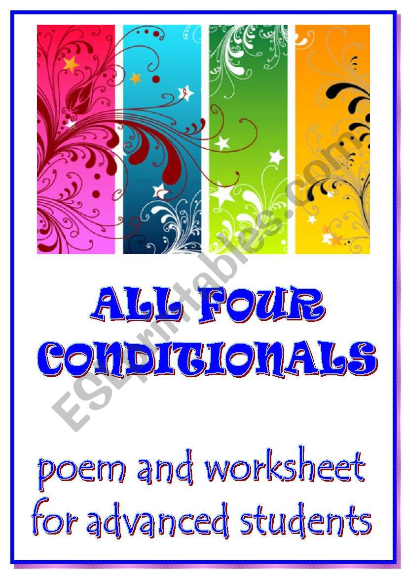 ALL 4 CONDITIONALS - a poem and a worksheet