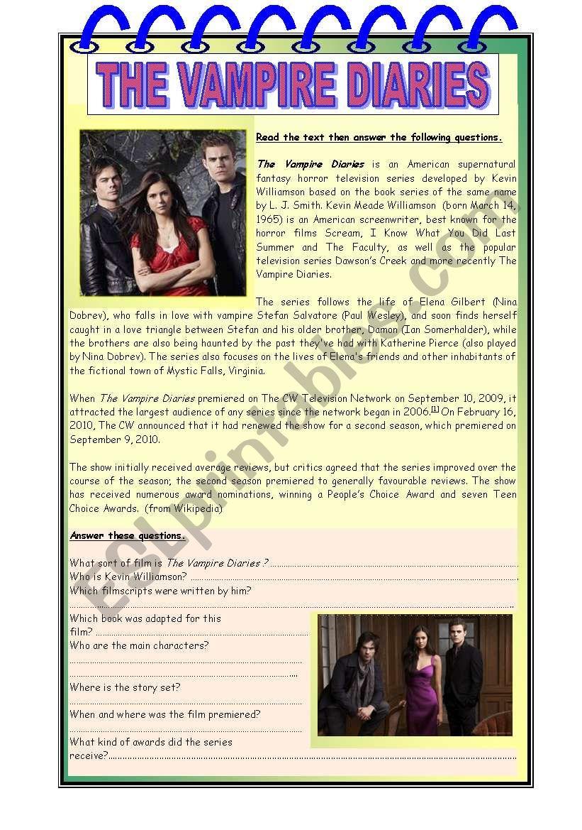 The Vampire Diaries worksheet