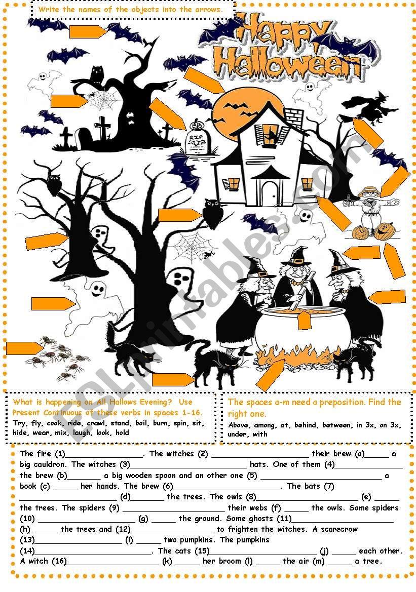Halloween Exercises worksheet
