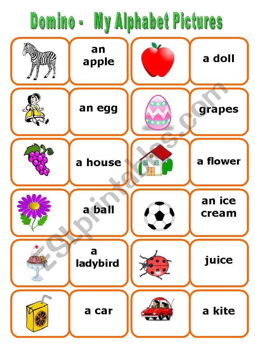 alphabet words worksheets my alphabet words domino 2 sets in 904