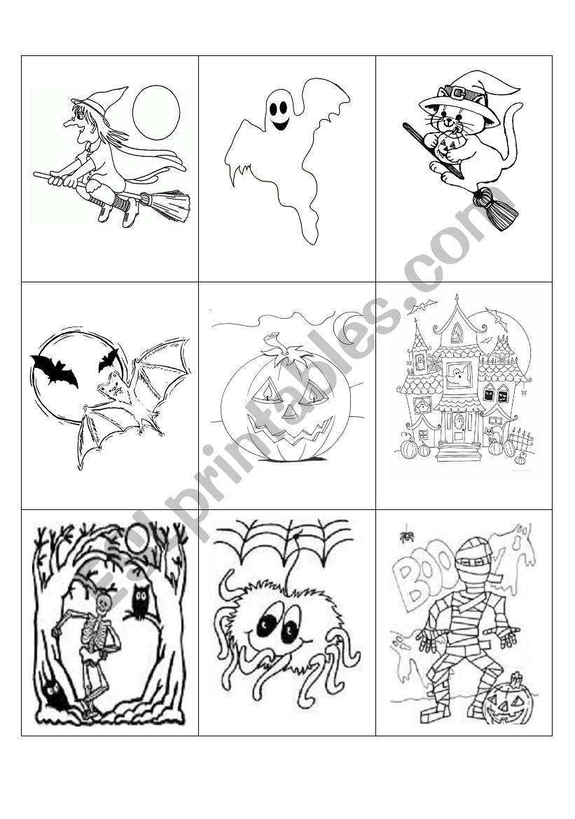Halloween game (five pages) worksheet