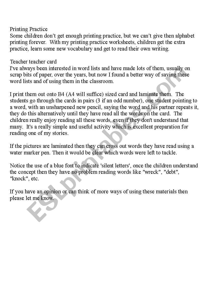 3 pages of Magic e Fun with e_e: Printing Practice, Teacher ...