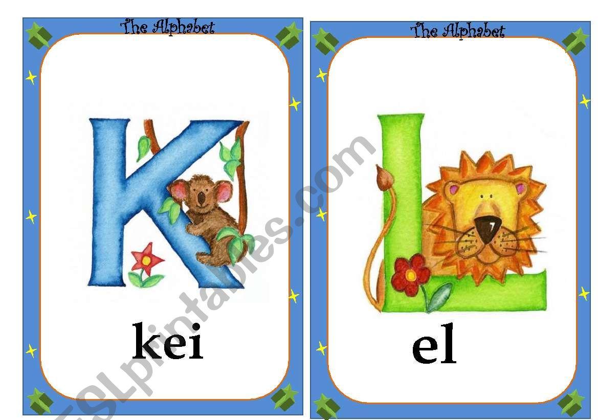 Alphabet flashcards- 2 /4 worksheet