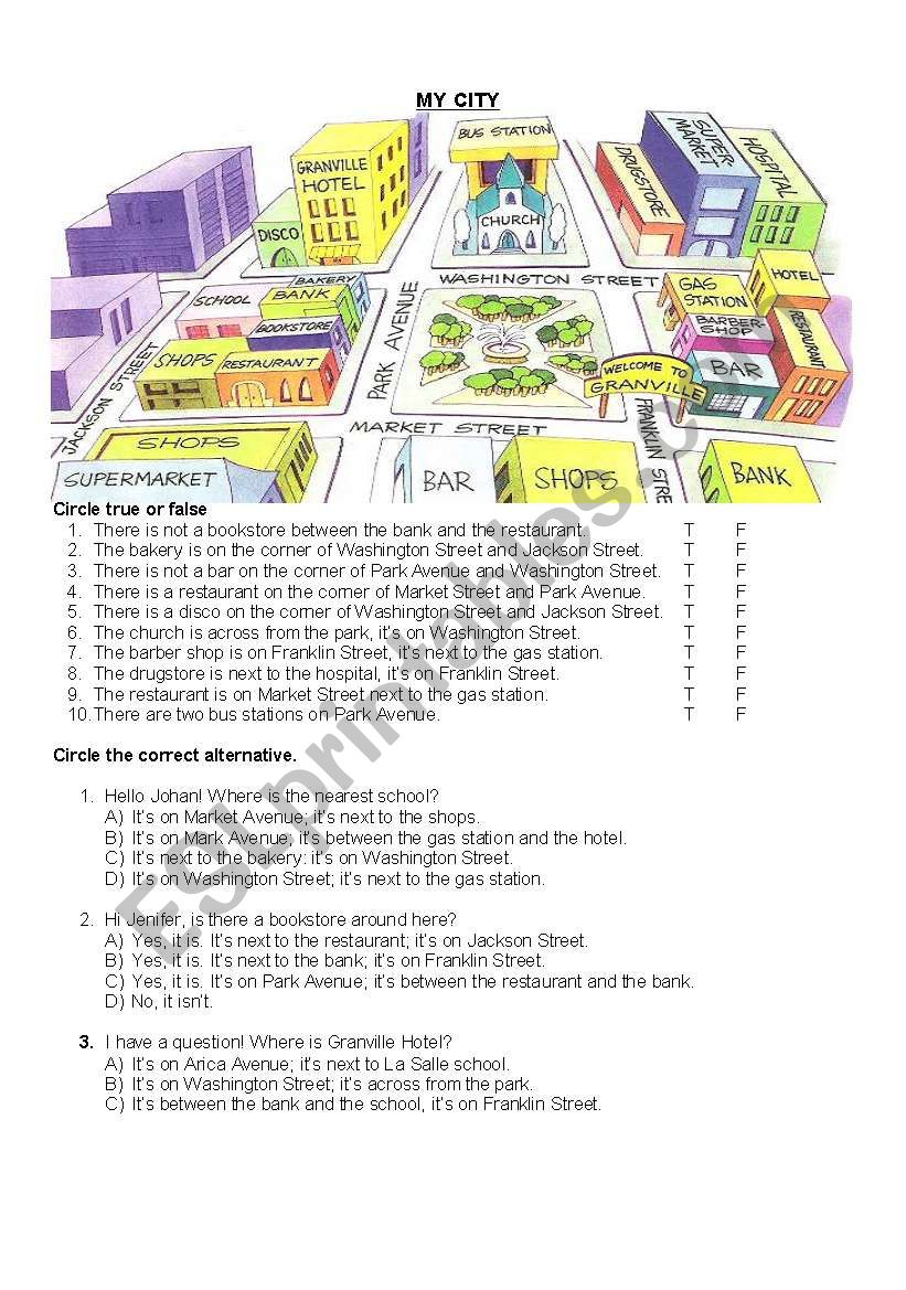 THIS IS MY CITY  worksheet
