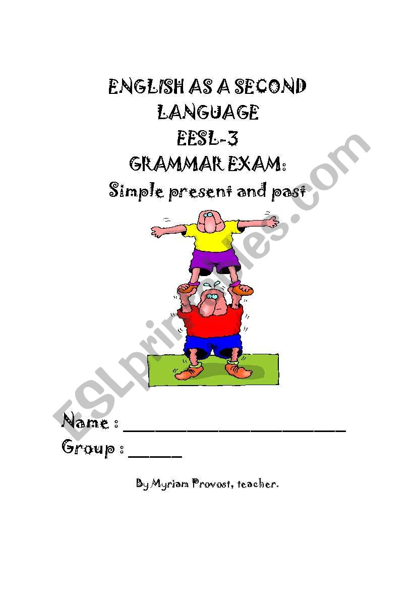 simple present and simple past exam