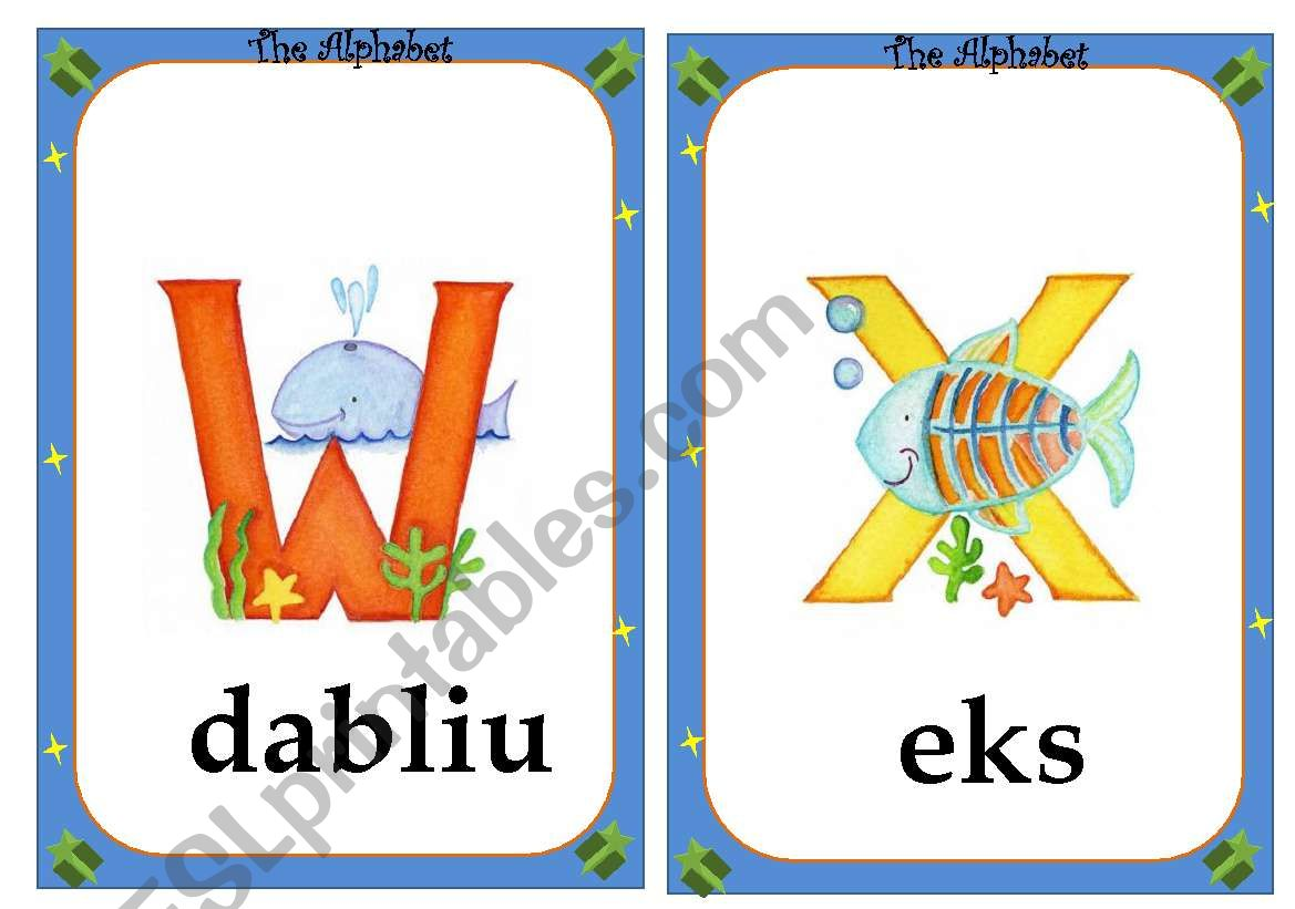 alphabet flashcards - 4/4 worksheet