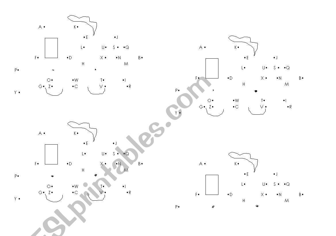 alphabet dictation worksheet
