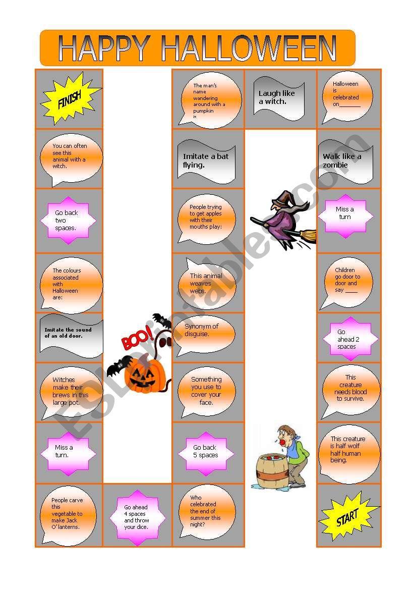 Happy Halloween worksheet