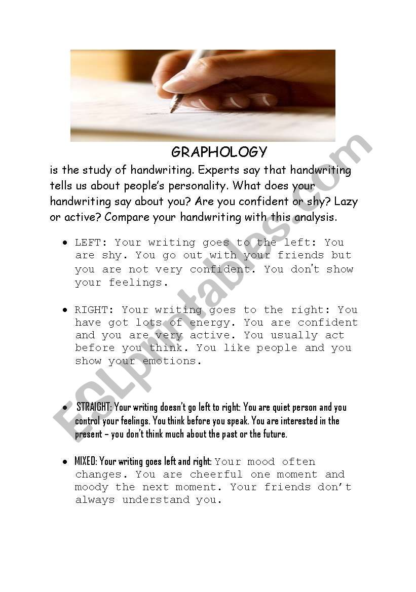 Reading text - Handwriting worksheet