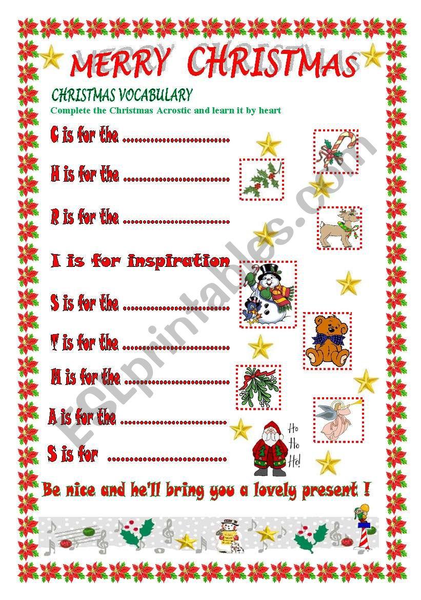 merry christmas part 2 esl worksheet by ikebana
