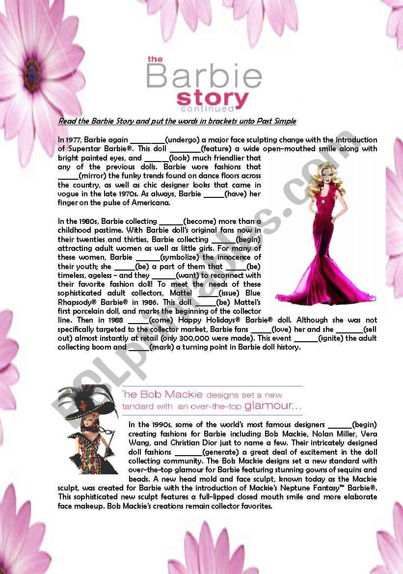 The Barbie Story worksheet