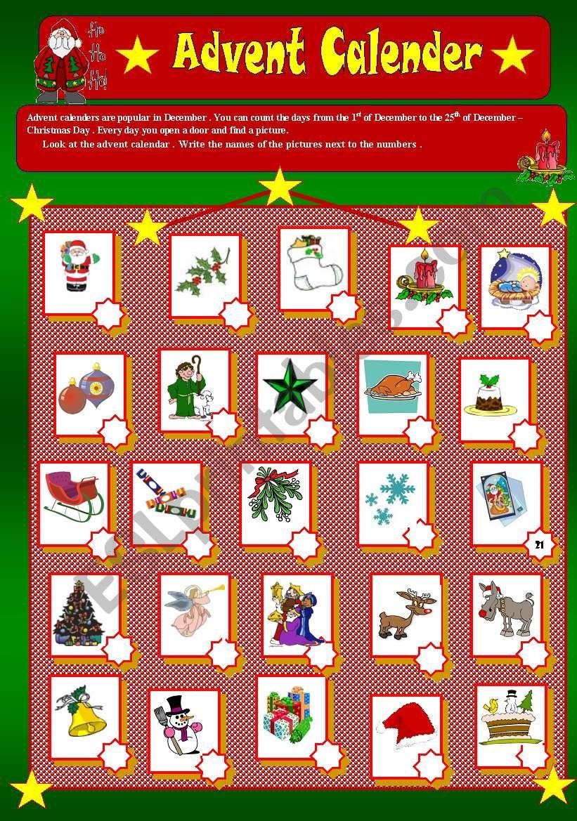 MERRY CHRISTMAS  (part 4) worksheet
