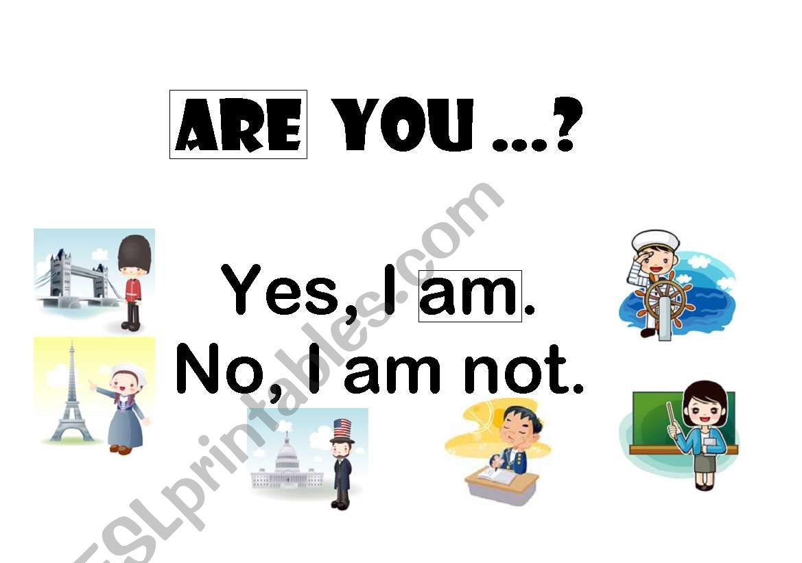 ARE YOU...? worksheet