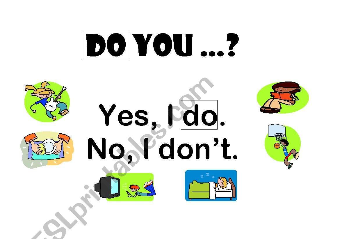 DO YOU...? worksheet