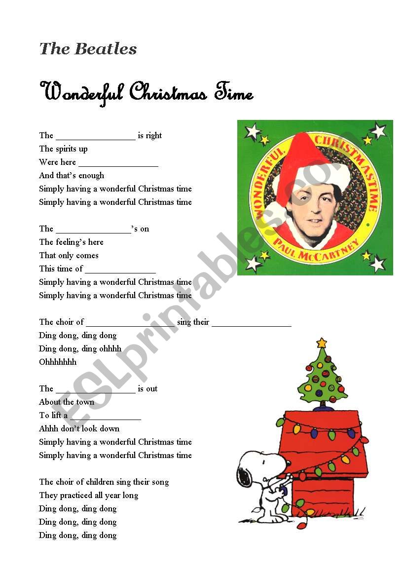 a song wonderful christmas time by the beatles - A Wonderful Christmas Time