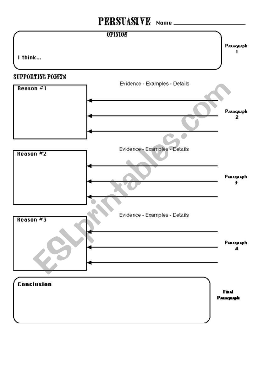 Preview A Text Worksheet : How to write a persuasive text planning sheet esl