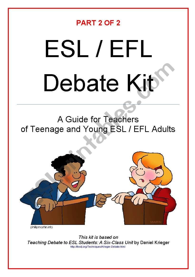 Debate Kit Part 2 (of 2) worksheet