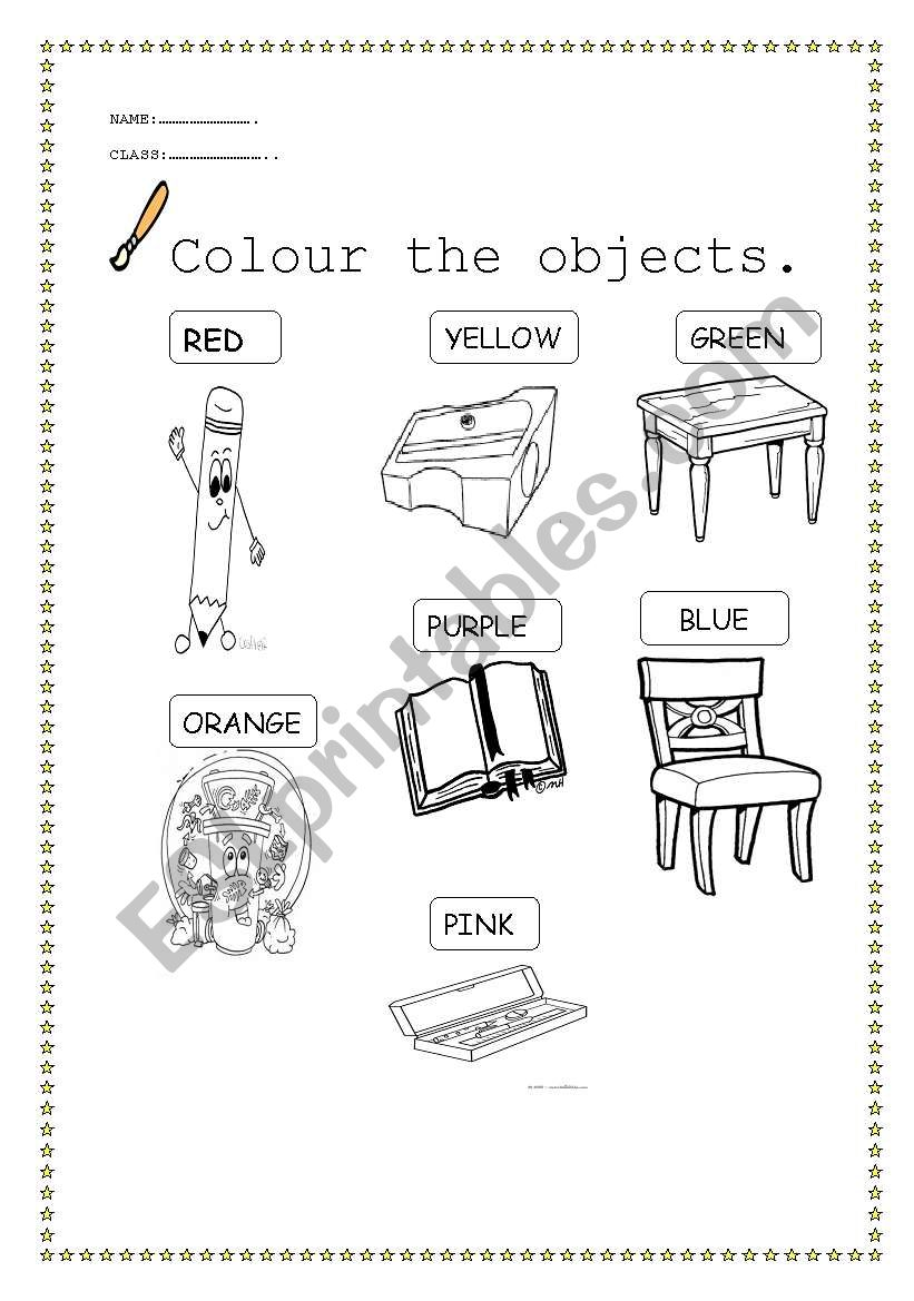 classroom objects and colours esl worksheet by didembilen. Black Bedroom Furniture Sets. Home Design Ideas