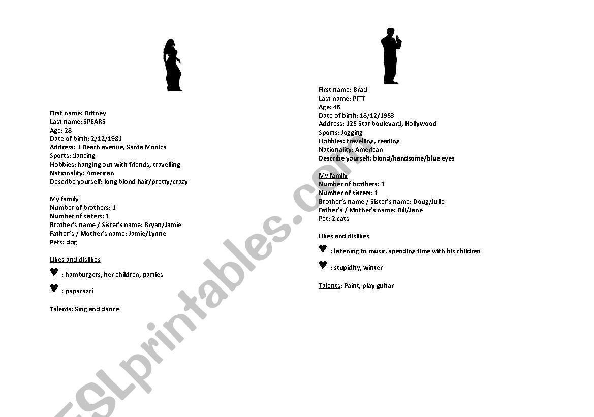 I´m a secret agent worksheet