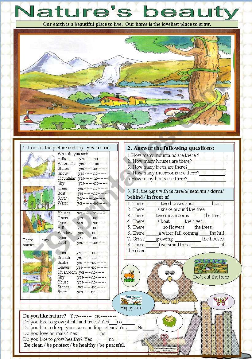 Environment / nature´s beauty worksheet