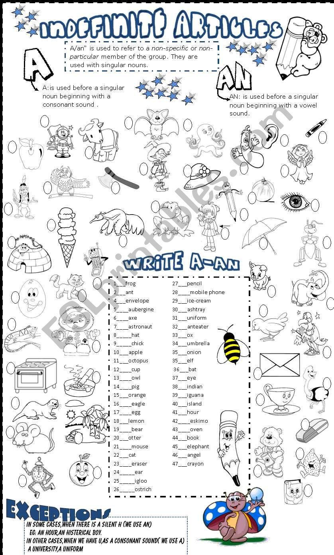 a-an worksheet