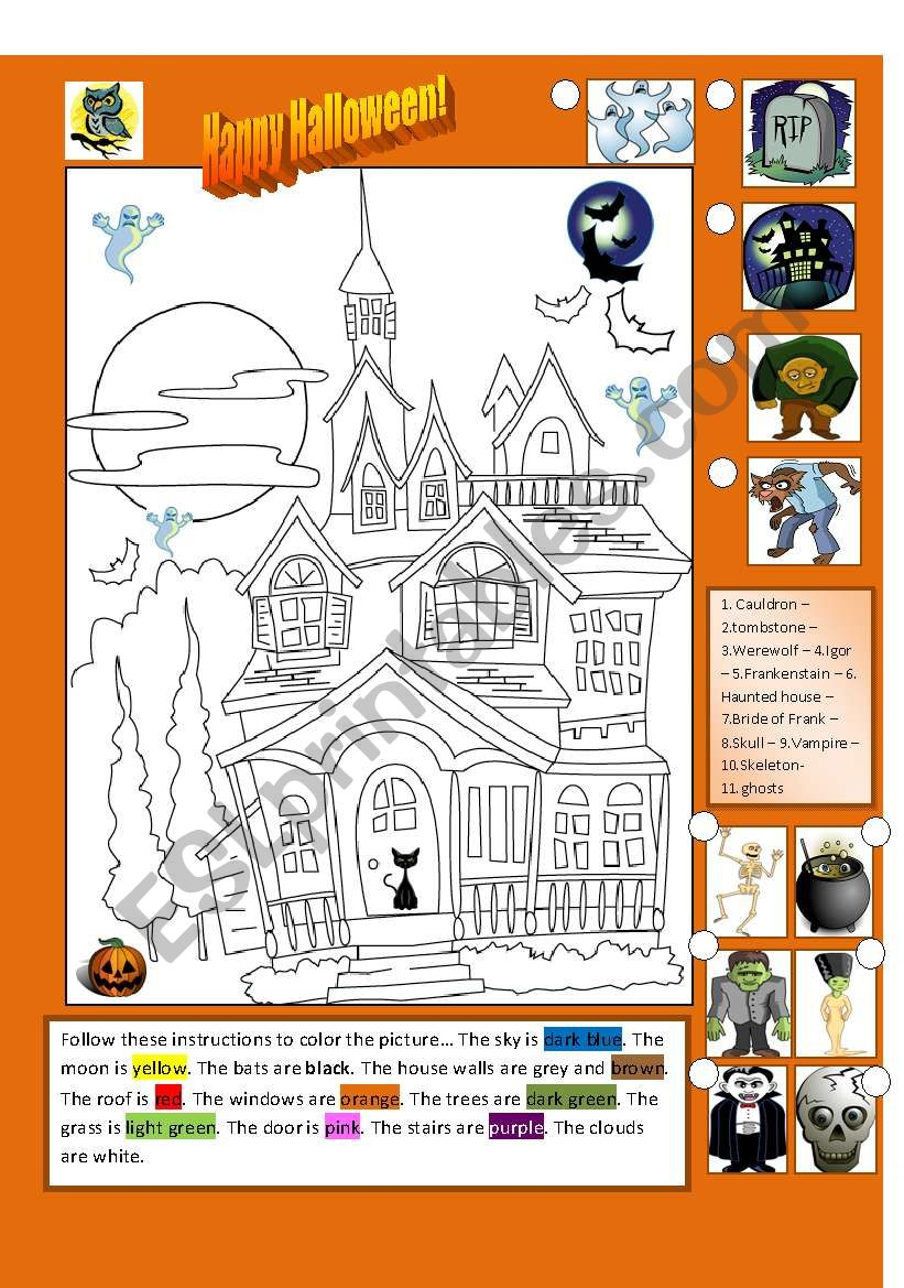 Halloween Fun 2 worksheet
