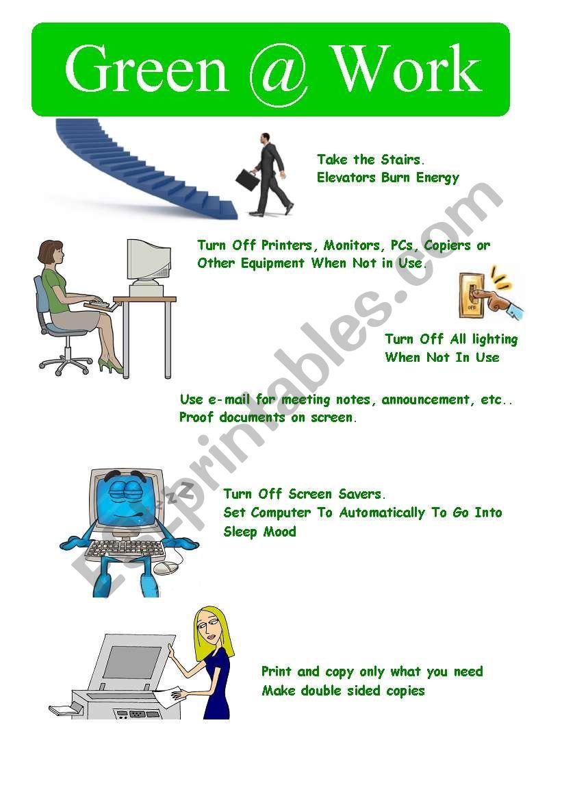 Green@work worksheet