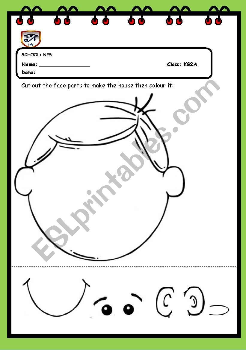 worksheet Parts Of Face Worksheet english worksheets face parts worksheet