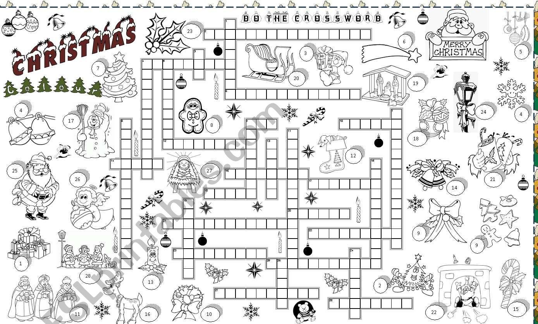 Christmas Crossword.Christmas Crossword Esl Worksheet By Angelamoreyra