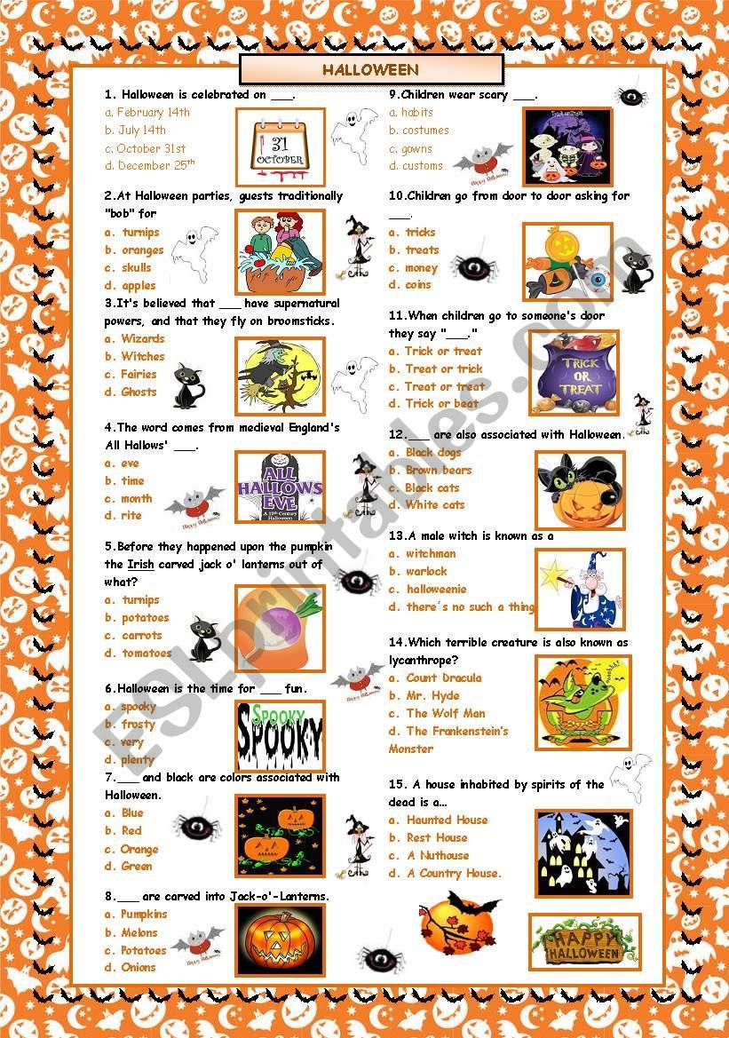 Halloween Quiz! worksheet