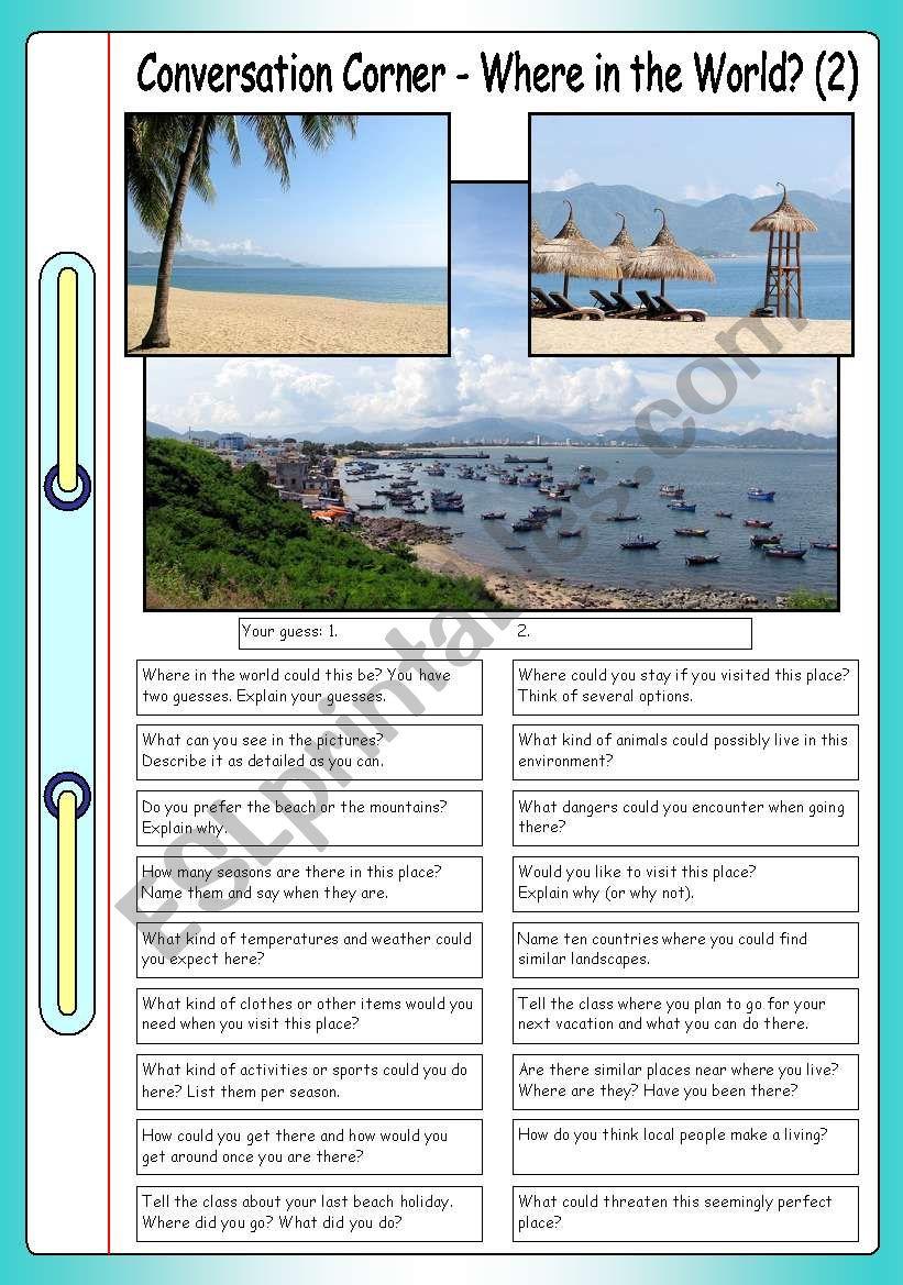 Conversation Corner: Where in the World? (2) - Tropical beach