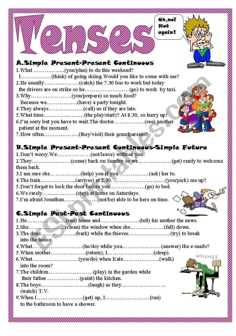 Tenses worksheet