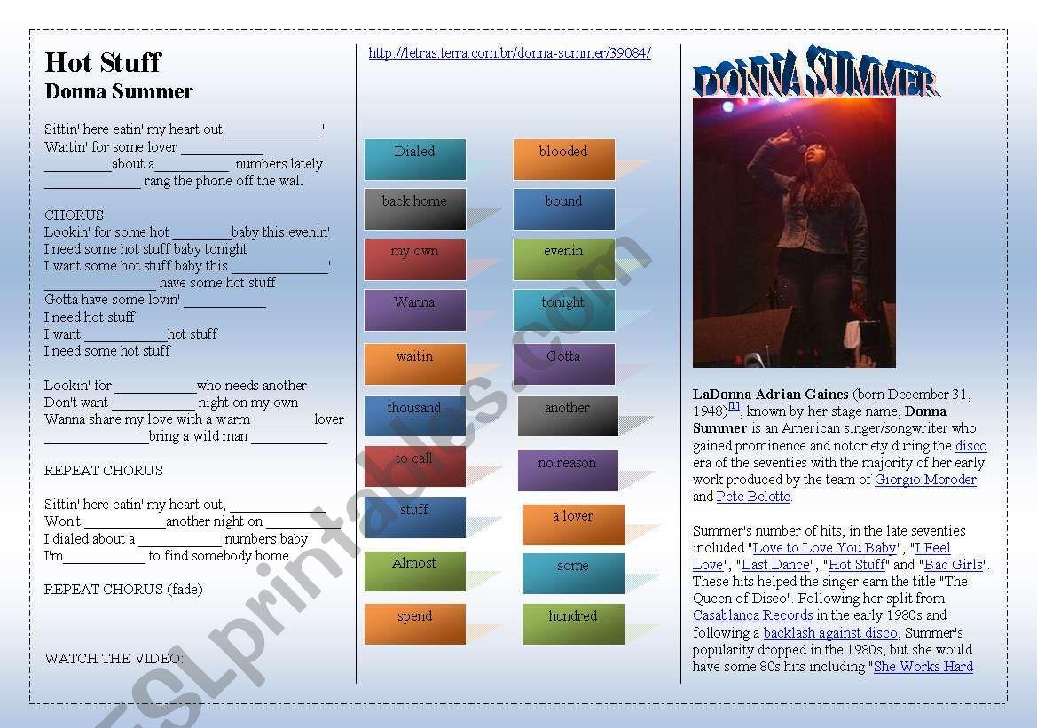 SONG: Donna Summer - HOT STUFF