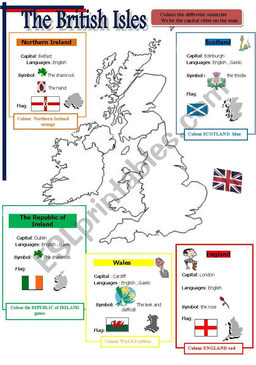 BRITISH ISLES worksheet