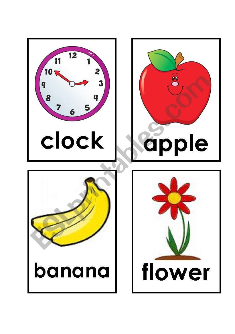 English worksheets: My first words - FLASHCARDS