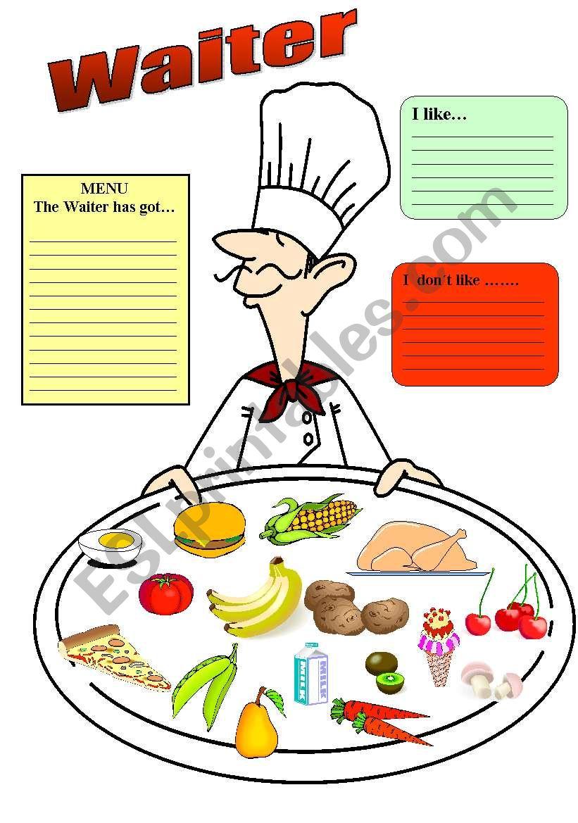Waiter, please worksheet