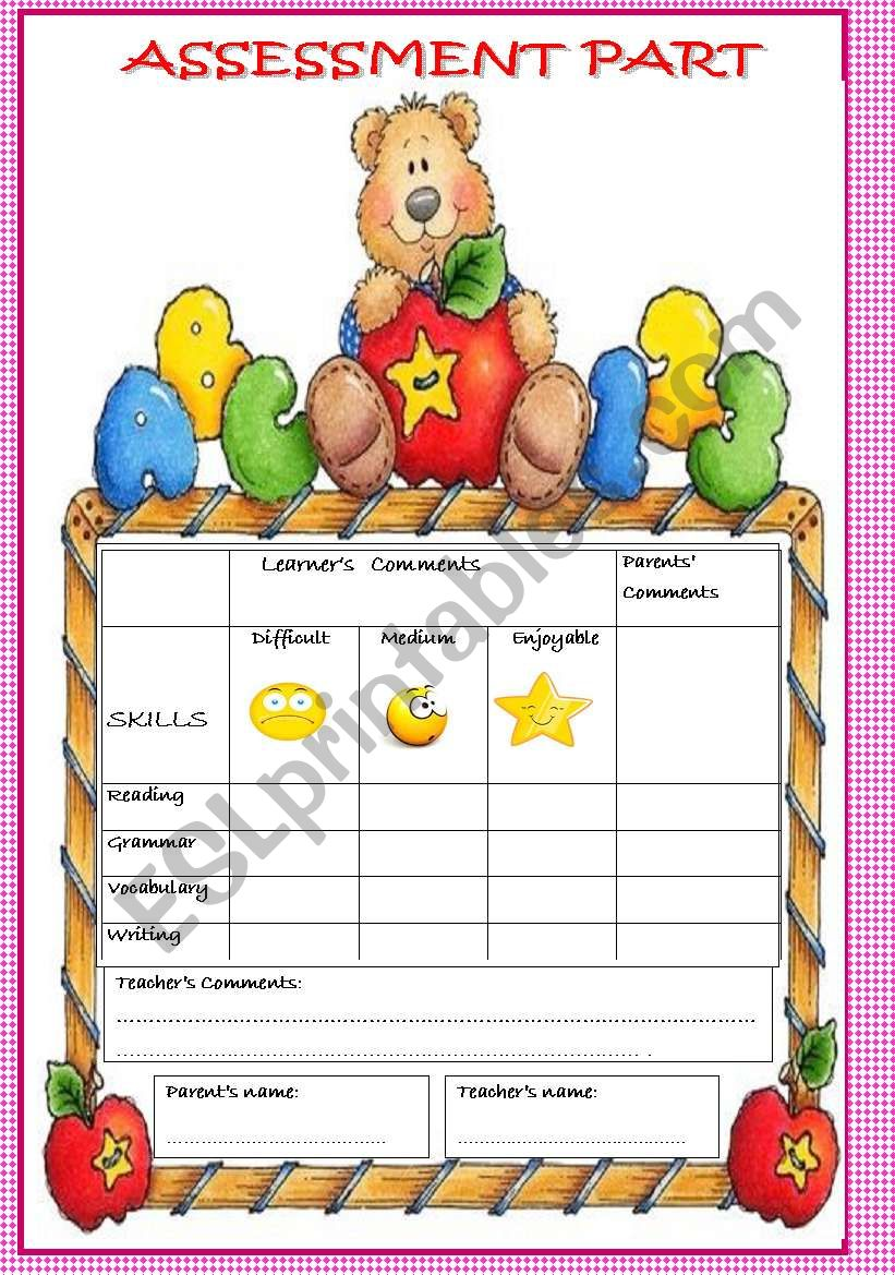 A nice assessment paper worksheet