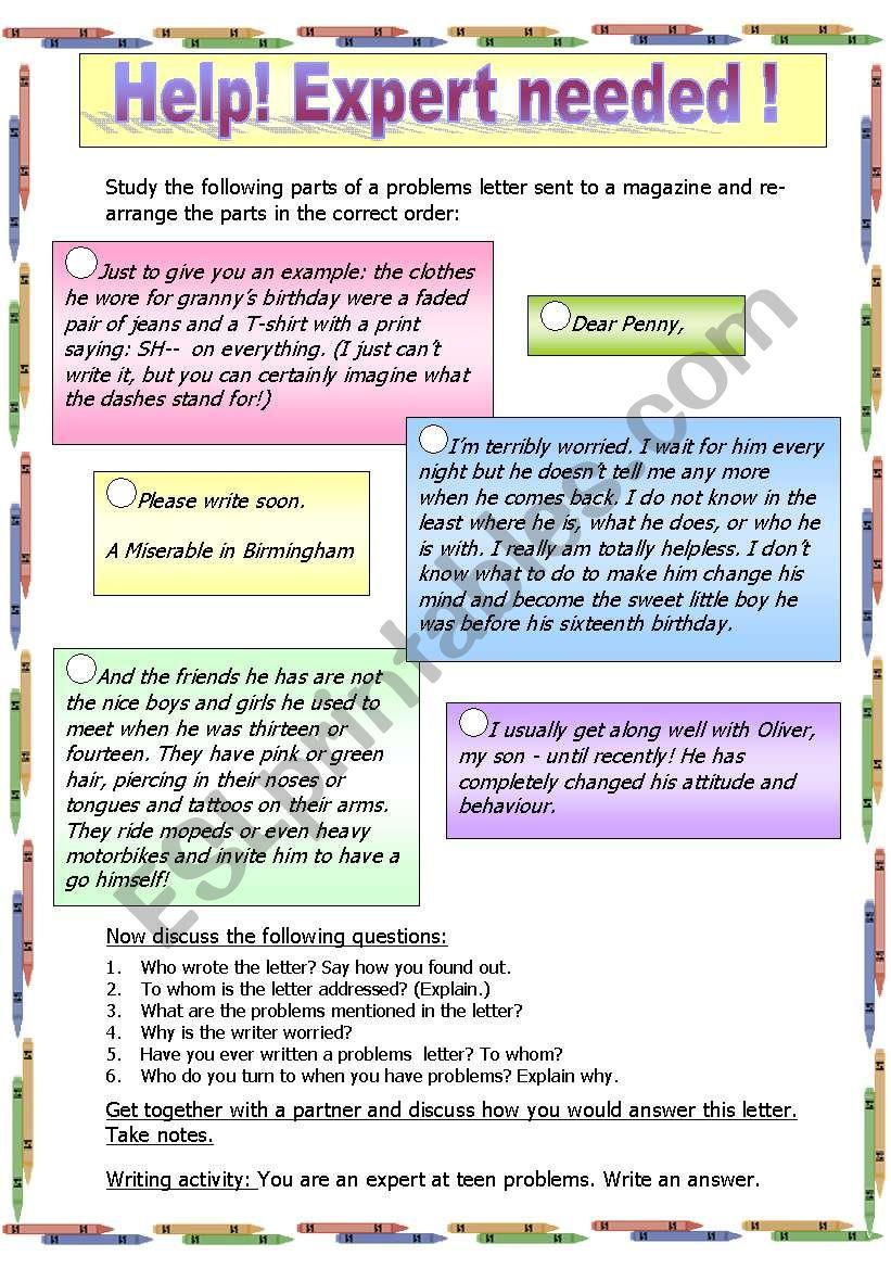 Letter writing teenage problems letter esl worksheet by isa2 letter writing teenage problems letter spiritdancerdesigns Image collections