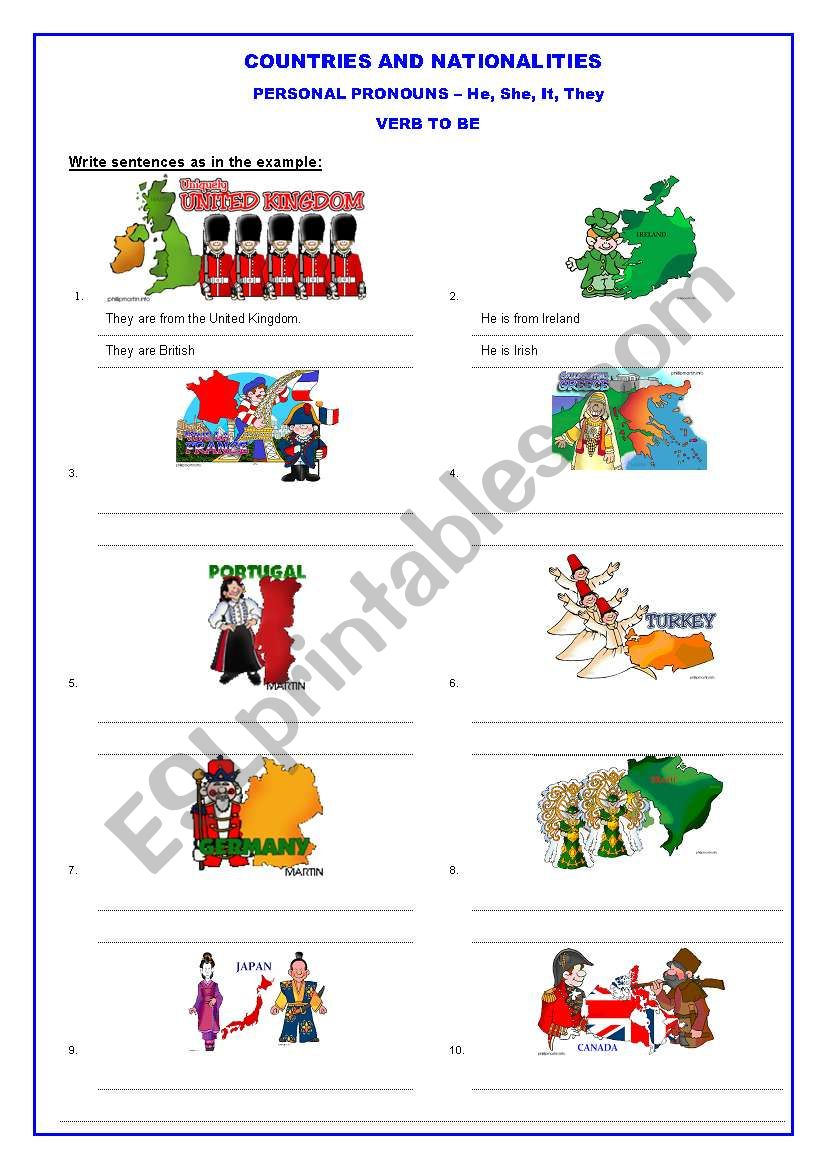 Countries and Nationalities (1 of 2)