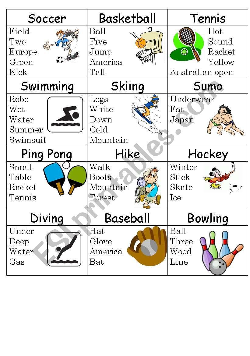 Sport taboo