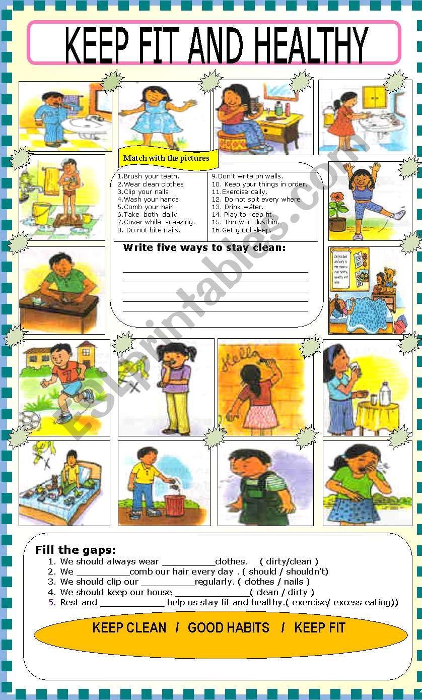 HEALTH worksheet