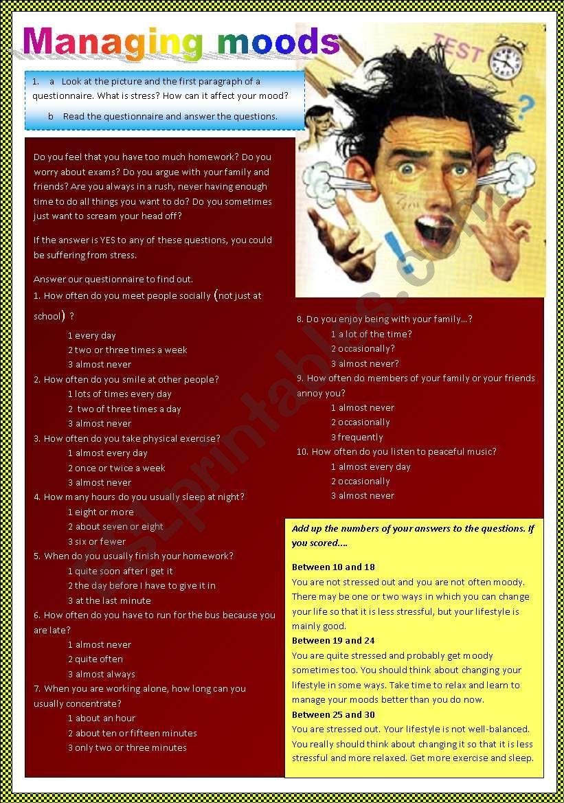 Stress Test worksheet