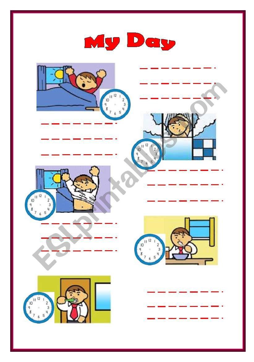 my day esl worksheet by noora mohammed. Black Bedroom Furniture Sets. Home Design Ideas