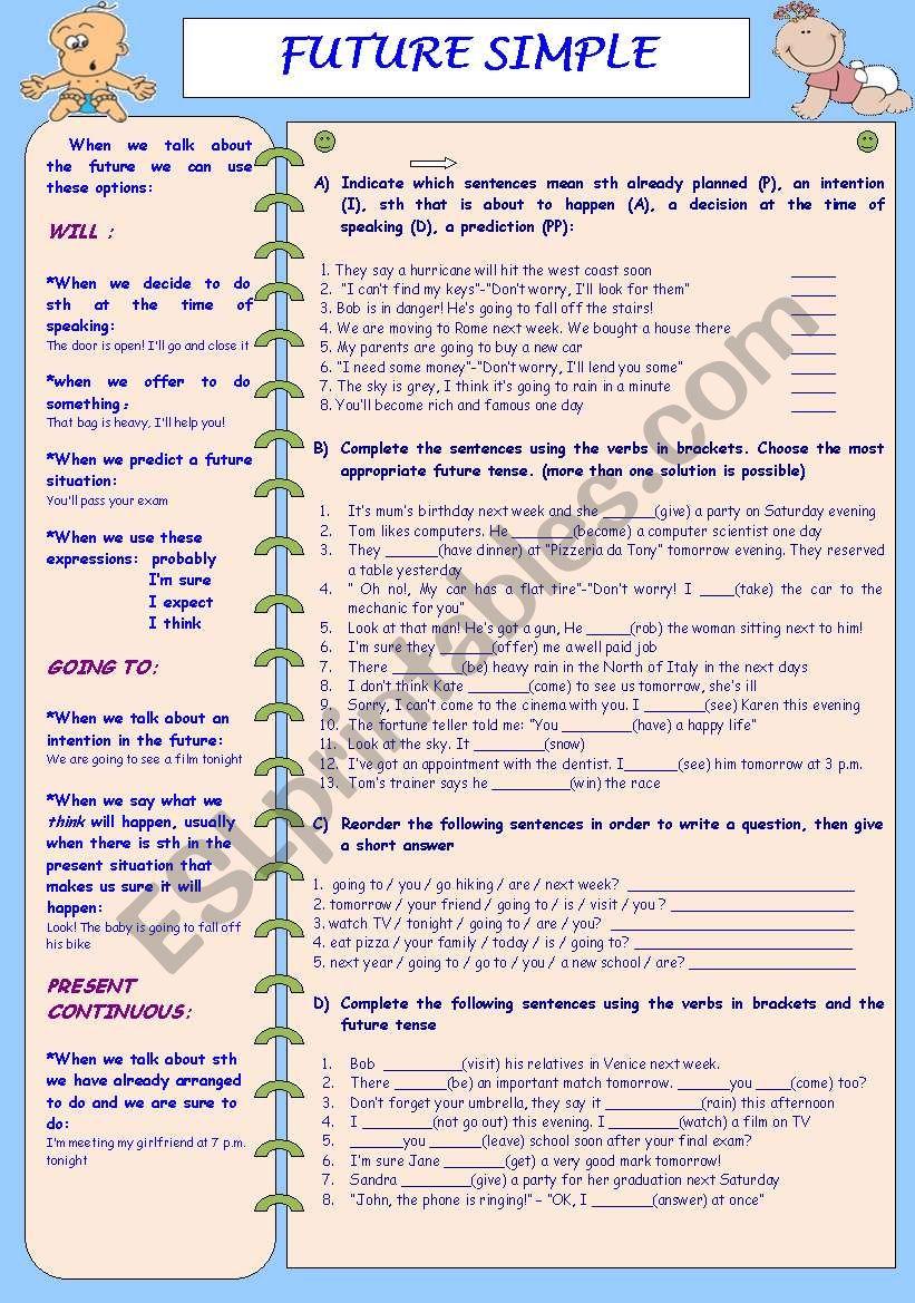 FUTURE SIMPLE worksheet