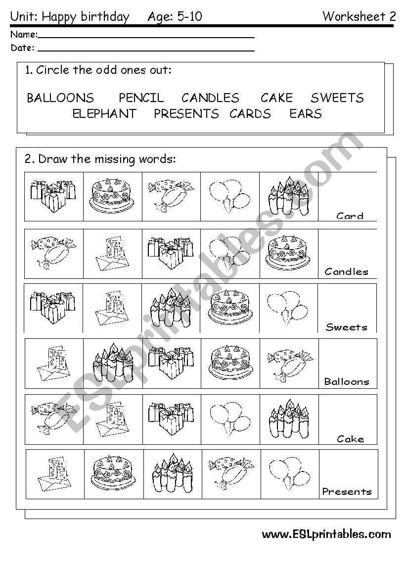 happy birthday reading worksheet esl worksheet by victor. Black Bedroom Furniture Sets. Home Design Ideas