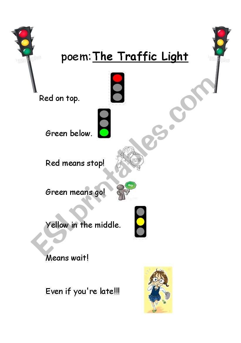poem  traffic lights